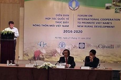 Diễn đàn hợp tác quốc tế thúc đẩy nông thôn mới 2016-2020