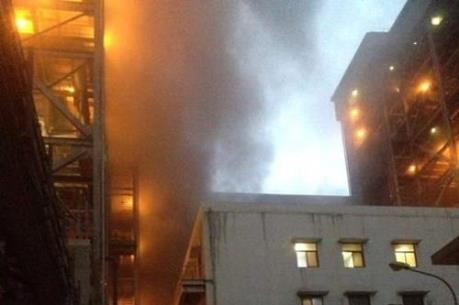 Hỏa hoạn thiêu rụi phòng nạp ắc quy của Nhà máy nhiệt điện Cẩm Phả