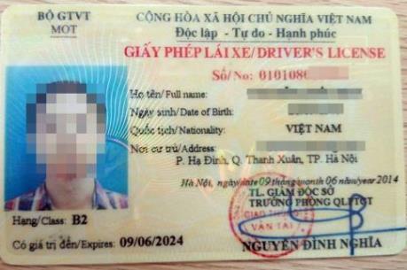 Hướng dẫn thủ tục đổi giấy phép lái xe sang vật liệu PET