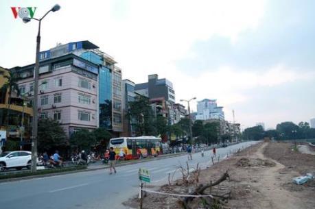 Hà Nội phân luồng giao thông phục vụ thi công đường sắt đô thị đoạn Nhổn - ga Hà Nội