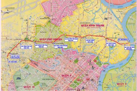Tp. Hồ Chí Minh tìm vốn đầu tư tuyến metro số 5 giai đoạn 2