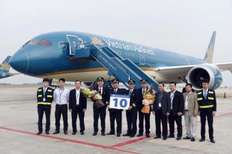 Vietnam Airlines đón nhận máy bay Boeing 787-9 Dreamliner thứ 10