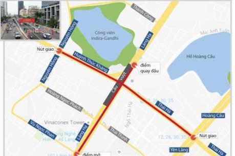 Nút giao thông Láng Hạ - Thái Hà được phân luồng như thế nào?
