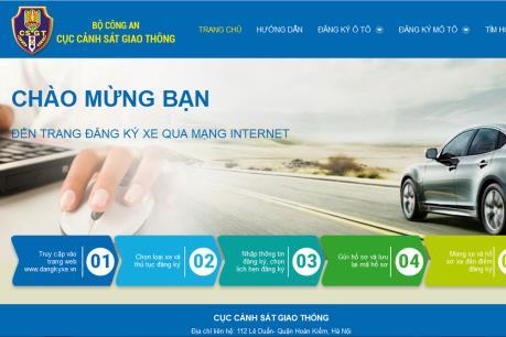Thí điểm đăng ký xe ôtô qua mạng internet