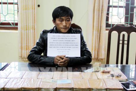 Lai Châu: Bắt một đối tượng vận chuyển, mua bán trái phép 17 bánh hêrôin