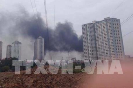Cháy lớn ở khu đô thị Xa La, quận Hà Đông