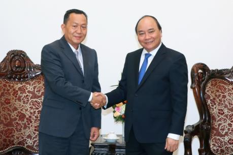 Thủ tướng Nguyễn Xuân Phúc tiếp Tổng Giám đốc Thông tấn xã Pathết Lào