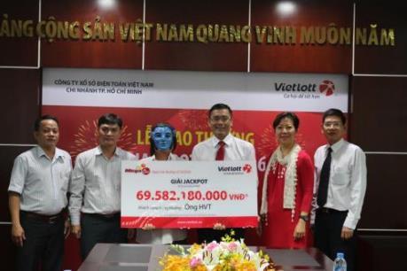 Vietlott trao thưởng giải Jackpot gần 70 tỷ đồng