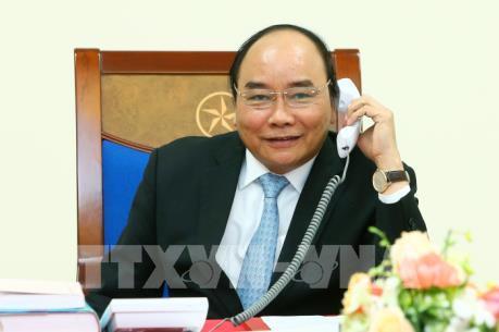 Thủ tướng Chính phủ Nguyễn Xuân Phúc điện đàm với Tổng thống đắc cử Hoa Kỳ Donald Trump