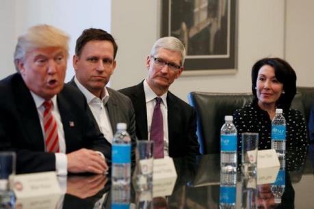 """Tổng thống đắc cử D.Trump gặp gỡ các """"đại gia"""" công nghệ Mỹ"""