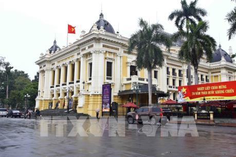Hà Nội trang hoàng kỷ niệm 70 năm Ngày Toàn quốc kháng chiến