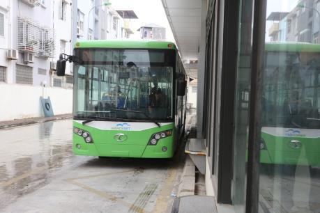 Hà Nội phân làn, phân luồng dành cho xe buýt nhanh
