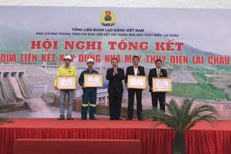 Tổng kết phong trào thi đua liên kết xây dựng công trình Thuỷ điện Lai Châu