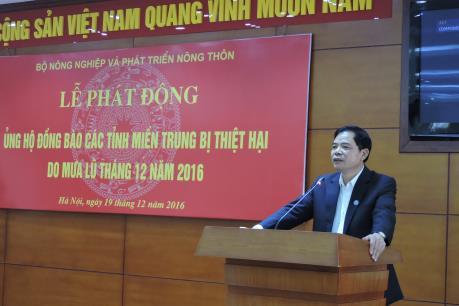 Bộ NN và PTNT phát động ủng hộ đồng bào miền Trung bị ảnh hưởng mưa lũ