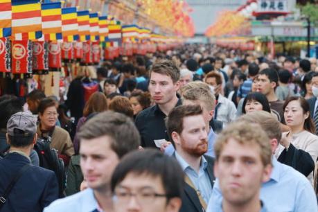 Lượng khách quốc tế đến Nhật đạt gần 22 triệu lượt trong 11 tháng qua
