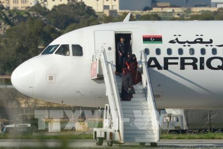 Vụ cướp máy bay Libya: 109 hành khách đã được giải thoát
