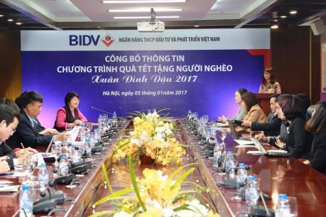 BIDV dành 12 tỷ đồng tặng quà Tết cho người nghèo