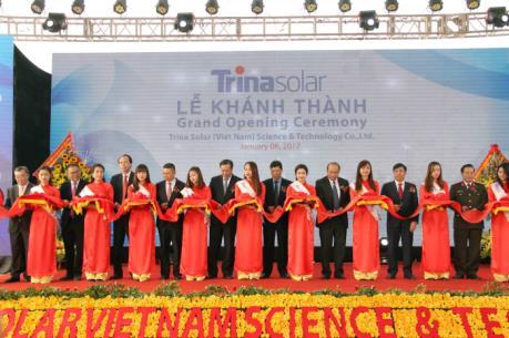 Bắc Giang khánh thành Nhà máy sản xuất pin năng lượng mặt trời Trina Solar
