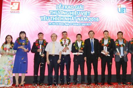 Trao Giải Thương hiệu Việt được yêu thích nhất 2016 cho 30 doanh nghiệp