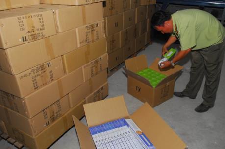 Tp.Hồ Chí Minh phát hiện kho chứa đèn led nhập lậu