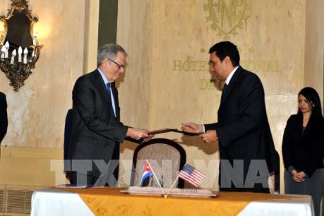 Cuba và Mỹ ký thỏa thuận chống tràn dầu trên biển