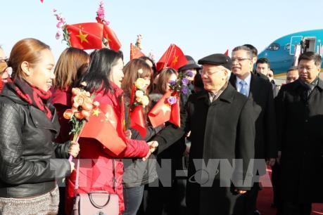 Tổng Bí thư Nguyễn Phú Trọng bắt đầu thăm chính thức nước CHND Trung Hoa
