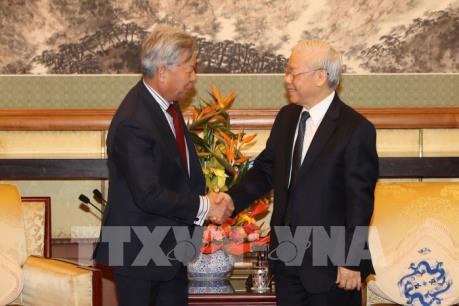 Tổng Bí thư Nguyễn Phú Trọng tiếp lãnh đạo một số doanh nghiệp Trung Quốc