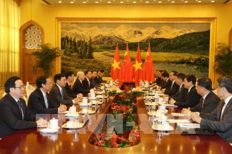 Tổng Bí thư Nguyễn Phú Trọng hội kiến Thủ tướng Quốc vụ viện Trung Quốc Lý Khắc Cường