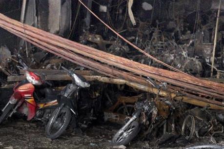 Tiền Giang: Dập tắt nhanh vụ cháy cửa hàng bán xe gắn máy cũ