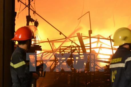 Cháy tại phố Tân Xuân-Hà Nội
