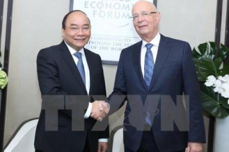 Thủ tướng Nguyễn Xuân Phúc tham dự các hoạt động của Hội nghị WEF