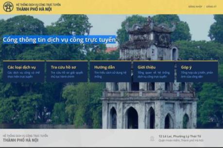 Hà Nội tiếp tục triển khai cung cấp 120 dịch vụ công trực tuyến mức độ 3