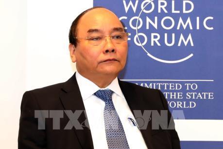 Thủ tướng Nguyễn Xuân Phúc gặp gỡ báo chí quốc tế bên lề Hội nghị WEF 2017