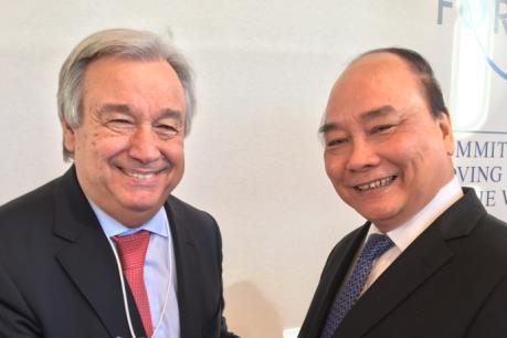 Hoạt động của Thủ tướng Nguyễn Xuân Phúc tại Diễn đàn Davos 2017