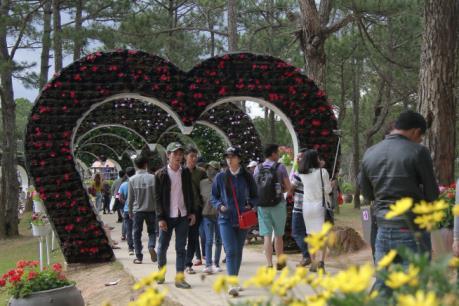 Nhiều du khách lựa chọn Đà Lạt là điểm du Xuân đầu năm