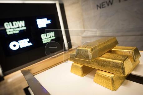 Giá vàng thế giới tăng lên mức cao nhất trong 11 tuần