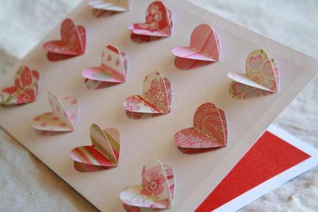 Cách làm thiệp 3D trái tim xinh yêu cho ngày Valentine