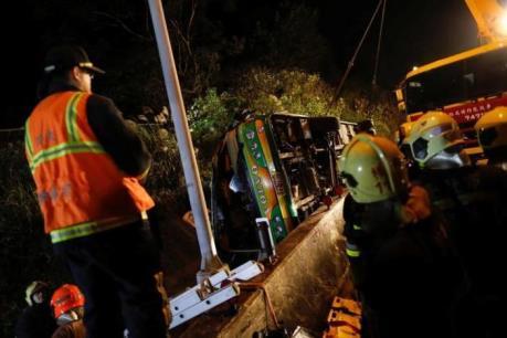Vụ tai nạn xe buýt tại Đài Loan (Trung Quốc): Ít nhất 32 người thiệt mạng