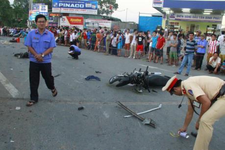 Lộ diện tài xế gây tai nạn liên hoàn tại Bình Dương