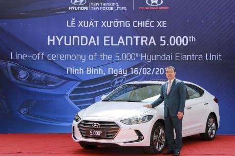 Hyundai Thành Công xuất xưởng chiếc xe Elantra thứ 5.000