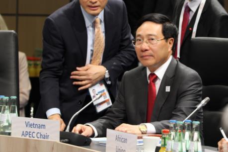 Phó Thủ tướng Phạm Bình Minh dự và phát biểu tại Hội nghị Bộ trưởng Ngoại giao G20