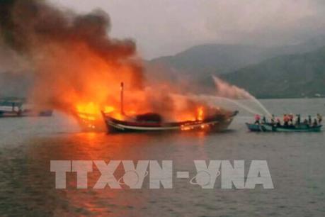 Hỏa hoạn thiêu rụi 3 tàu cá ở Bình Định, thiệt hại khoảng 30 tỉ đồng
