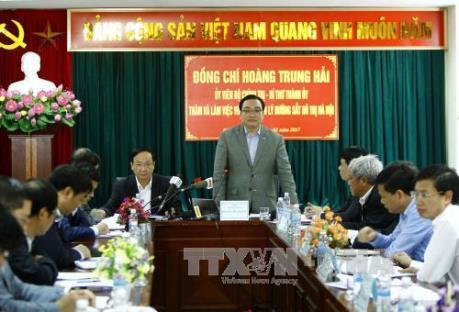 Bí thư Hà Nội yêu cầu đẩy nhanh tiến độ xây dựng các tuyến đường sắt đô thị