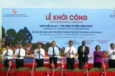 Khởi công dự án Vệ sinh môi trường hơn 11 nghìn tỷ đồng ở Tp. Hồ Chí Minh