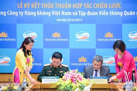 Vietnam Airlines ký kết thoả thuận hợp tác với Viettel
