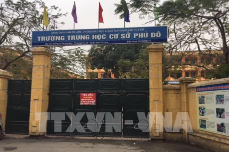 Hà Nội giáng chức, điều chuyển công tác Hiệu trưởng Trường THCS Phú Đô