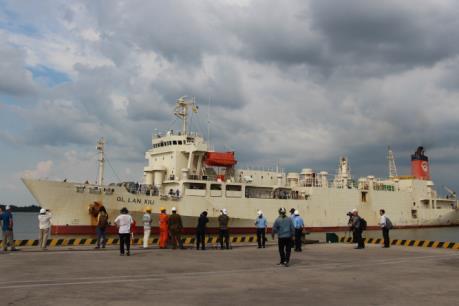 Tân Cảng Sài Gòn đón tàu trọng tải hơn 6.200 tấn