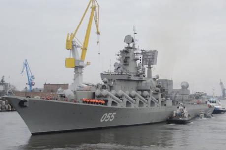 Tuần dương hạm của Nga diễn tập phòng không và chống tàu ngầm