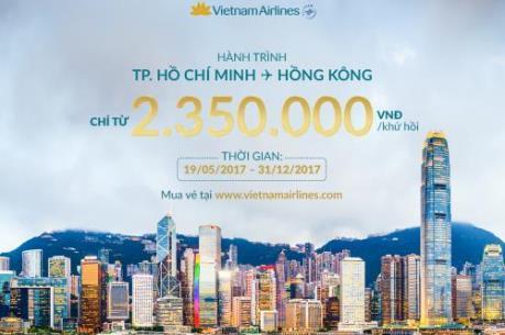 Vietnam Airlines ưu đãi vé máy bay chặng Tp. Hồ Chí Minh - Hongkong (Trung Quốc)