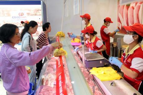 Giá thịt lợn VietGAP tại Tp Hồ Chí Minh giảm đến 49%